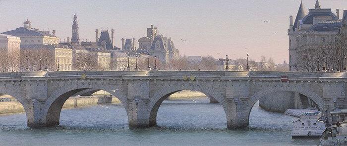 9 mouettes et les vedettes du Pont Neuf. Автор: Thierry Duval.