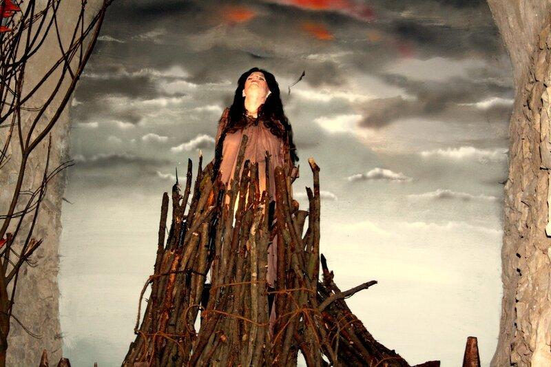 Ведьма на костре