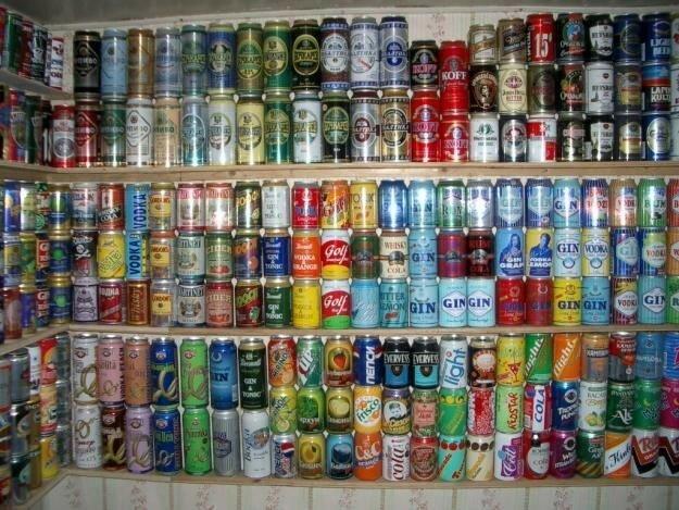 Жестяные банки из-под пива
