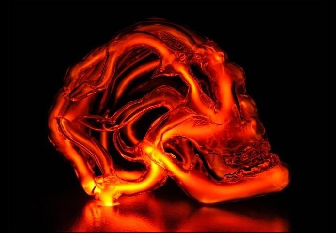 Светящиеся анатомические конструкции by Eric Franklin. Стекло и криптон