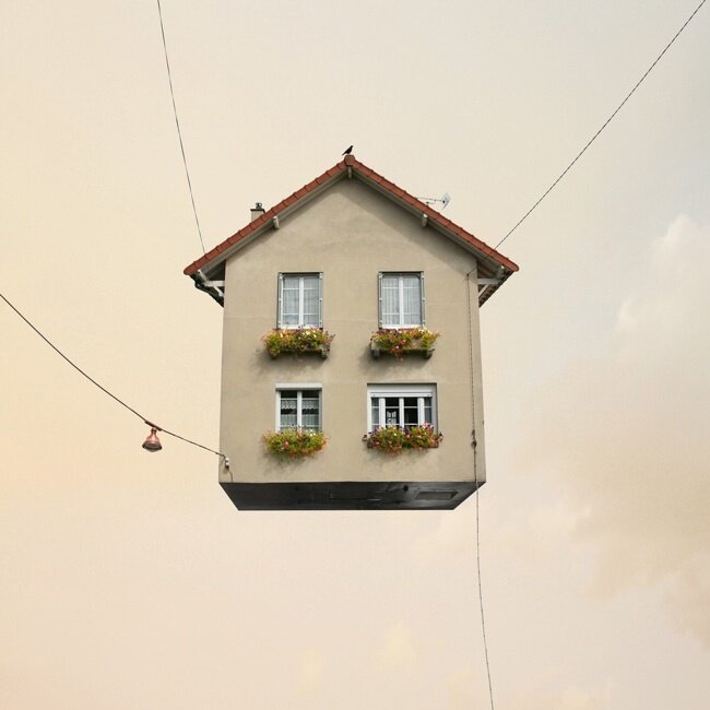 «Летающие дома» Лоран Шейе (Laurent Chehere)