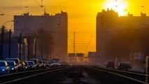 весна, город, городской пейзаж, закат, март, небо, облака, пейзаж, питер, пробка, прогулка, россия, санкт-петербург, солнце, храм
