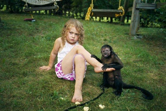 Фотографии девочки Амелии с дикими животными
