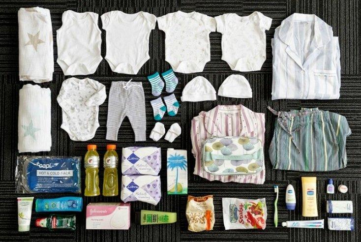 Есть ли жизнь после родов. Фотографии того, что находится в сумках рожениц разных стран мира