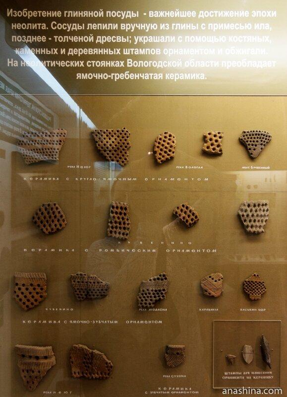 Фрагменты ямочно-гребенчатой керамики, Вологда