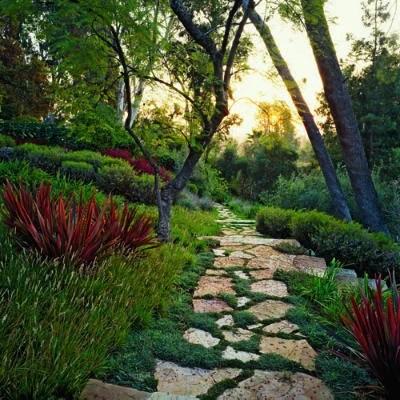 мощение дорожки в саду на даче дизайн сада