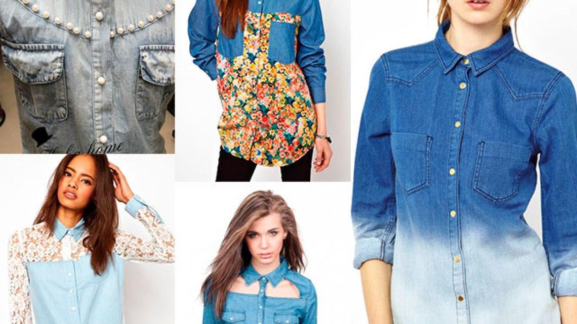 Советы девушка с чем носить джинсовую рубашку женскую ?