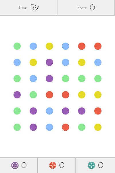 приложение Dots для iPhone - игра в точки