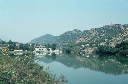 Мцхета (древняя столица Грузии) и река Кура