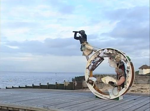 "Цирковой проект-перфоманс ""The Wheel House"". Jeni Barnard / Джени Барнард и Barney White / Барни Уайт - 7 лет колеся по свету"
