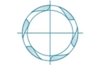 Cross cutter metal 6-z