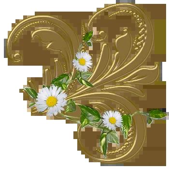 Декоративные элементы PNG-золото