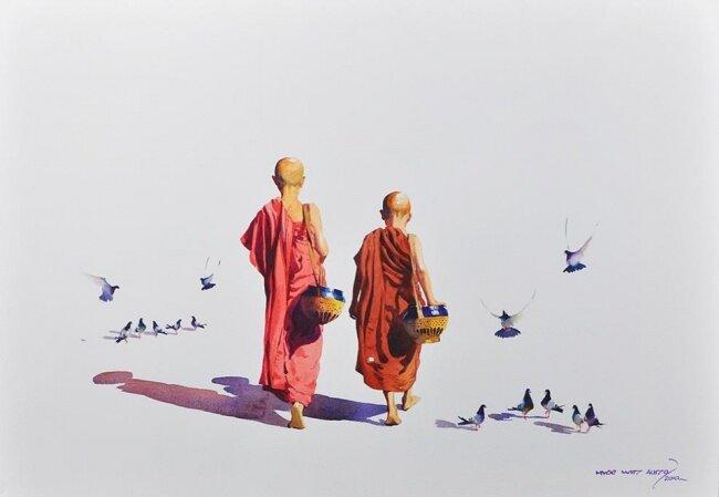 Акварель по-восточному. Очарование Востока в акварелях Myoe Win Aung. 20 картин