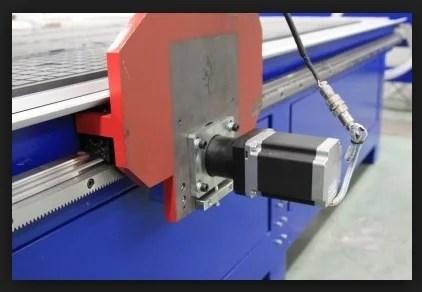 Servo mounted on the machine axis
