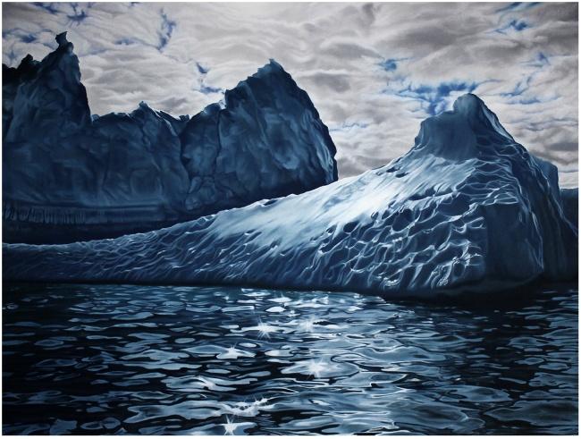 Айсберги и океаны в пастелях Зарии Форман / Zaria Forman