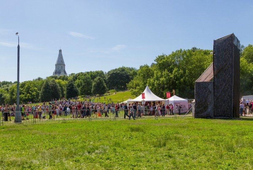 Панорама площадки фестиваля, Времена и эпохи-2015, Коломенское