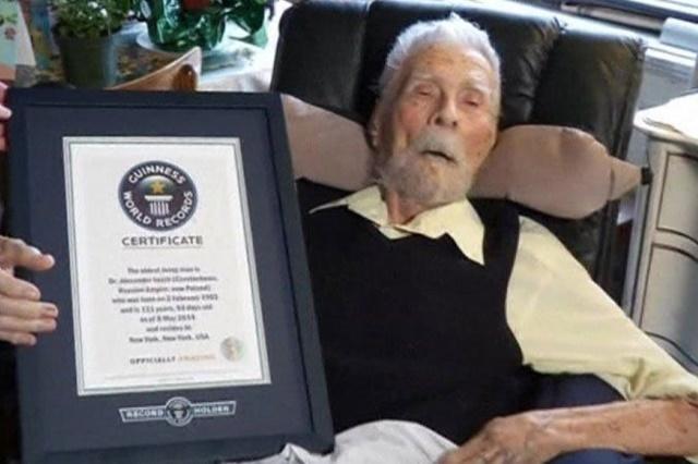 Самый старый мужчина в мире умер в Нью Йорке 8 июня