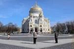 апрель, архитектура, весна, город, кронштадт, морской никольский собор