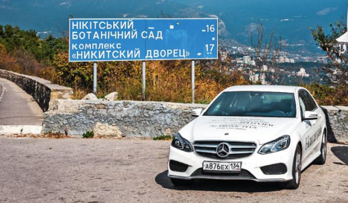 Въезд в Украину на авто Mercedes