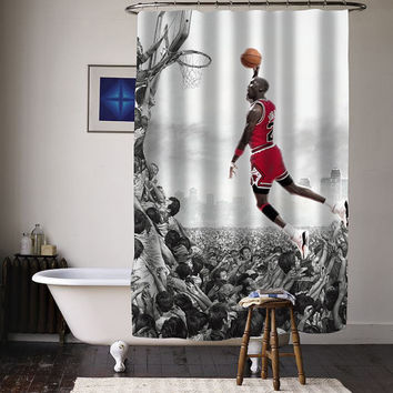 michael jordan fly special custom shower curtains available size