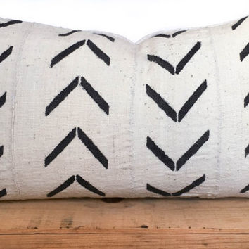 16x26 inch white african mud cloth pillow cover mudcloth pillow