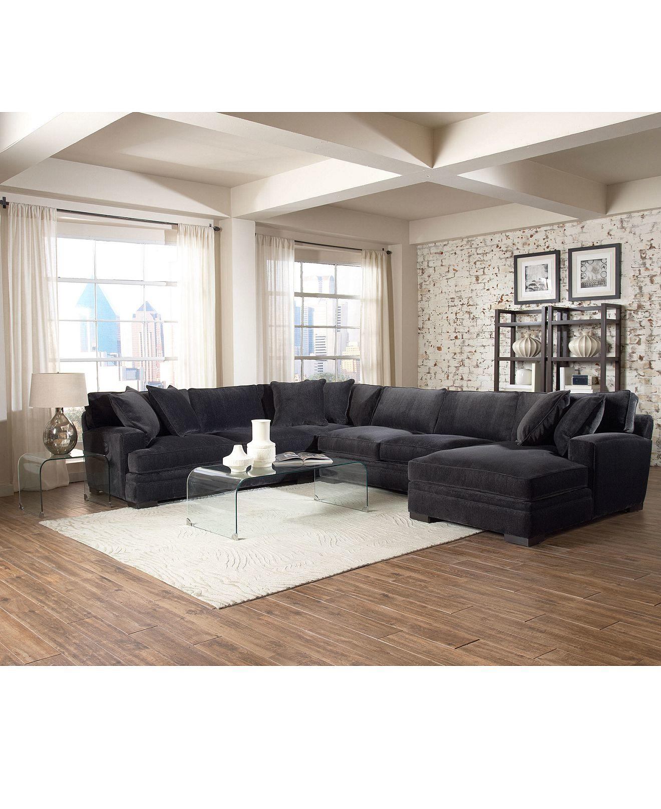 teddy fabric sectional living room furniture collection furniture macy s