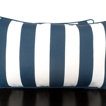 blue and white striped pillow cases