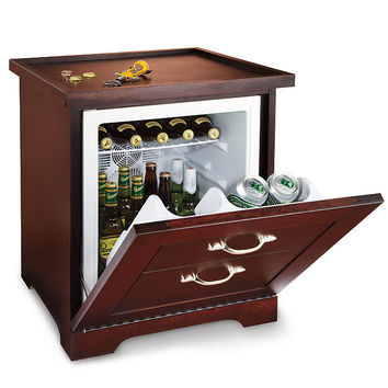 man table mini refrigerator end table at brookstone buy now