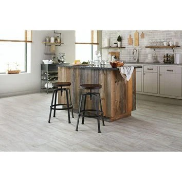 shop stainmaster 12 in x 24 in groutable oyster travertine white peel and stick travertine luxury vinyl tile at lowes com