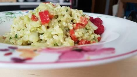 Receta de ensalada de aguacate y arroz integral