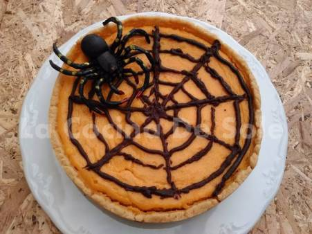 Tarta de calabaza para Halloween