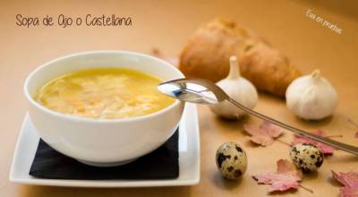 Receta de sopa de ajo o sopa castellana