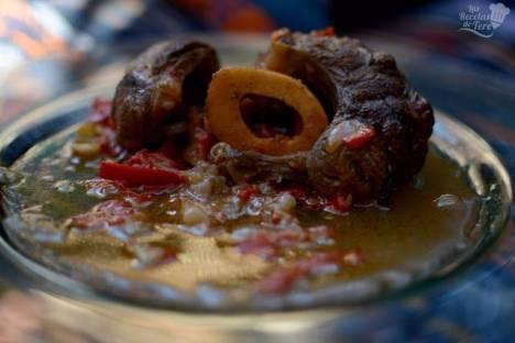 Receta de Ossobuco en salsa de ginebra y vegetales