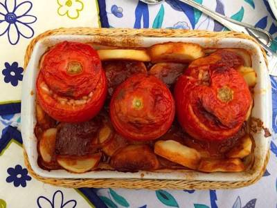 receta de tomates rellenos con arroz