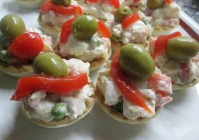 Tartaletas de ensaladilla rusa