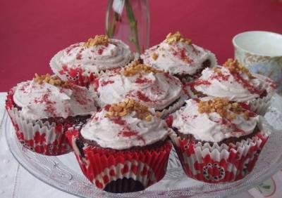 Recetas cupcakes con cobertura de mascarpone