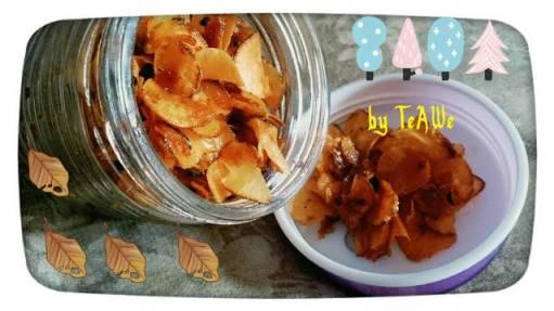 Cara membuat keripik singkong pedes manis gurih