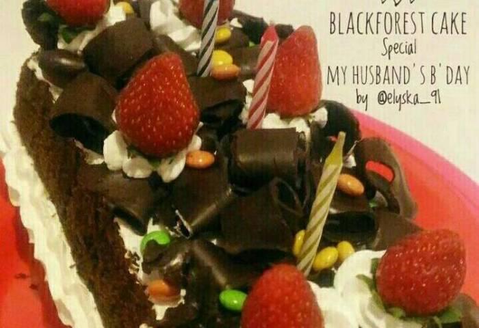 Resep Blackforest Cake Special My Husbands Bday Oleh
