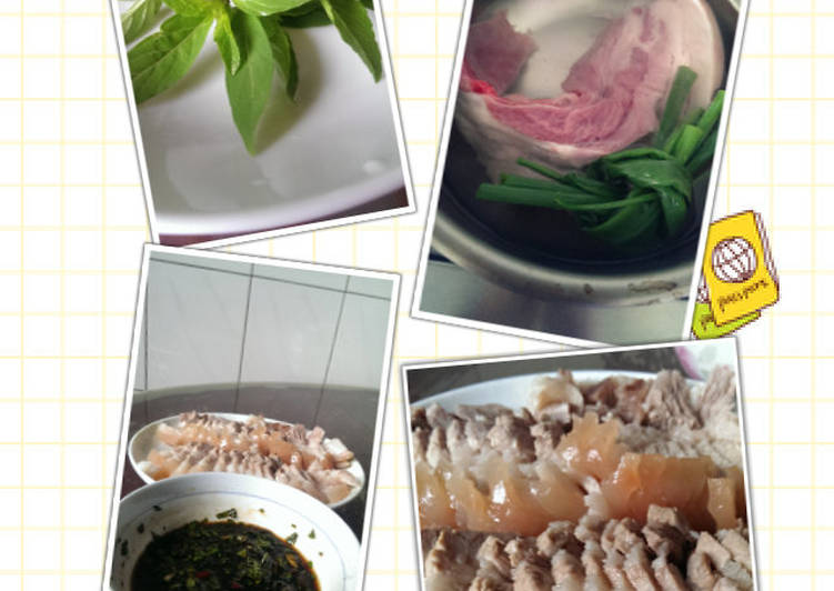 九層塔醬沾白肉食譜 by 中巷五號。手作。食 - Cookpad