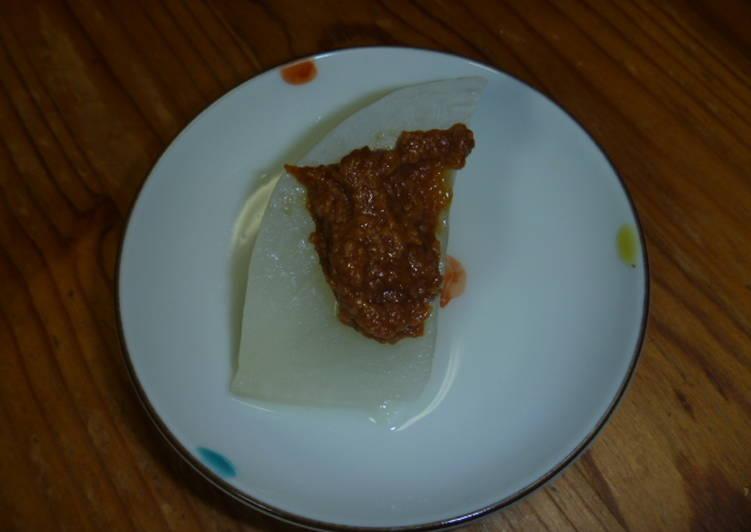 風呂吹大根(正宗日式煮昆布蘿蔔)食譜 by sumi - Cookpad