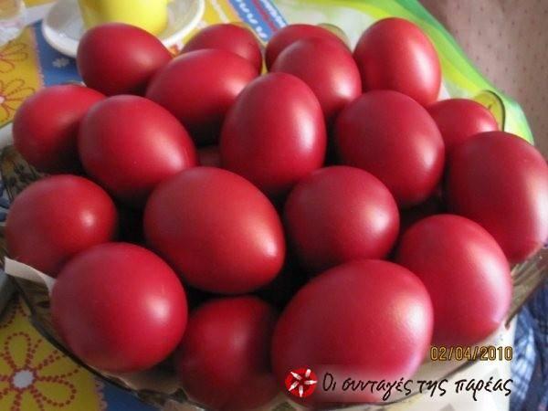 Τα αυγά της Αναστάσεως με κρύα βαφή