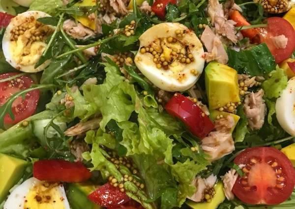 Салат с тунцом и рукколой🌺 - пошаговый рецепт с фото ...