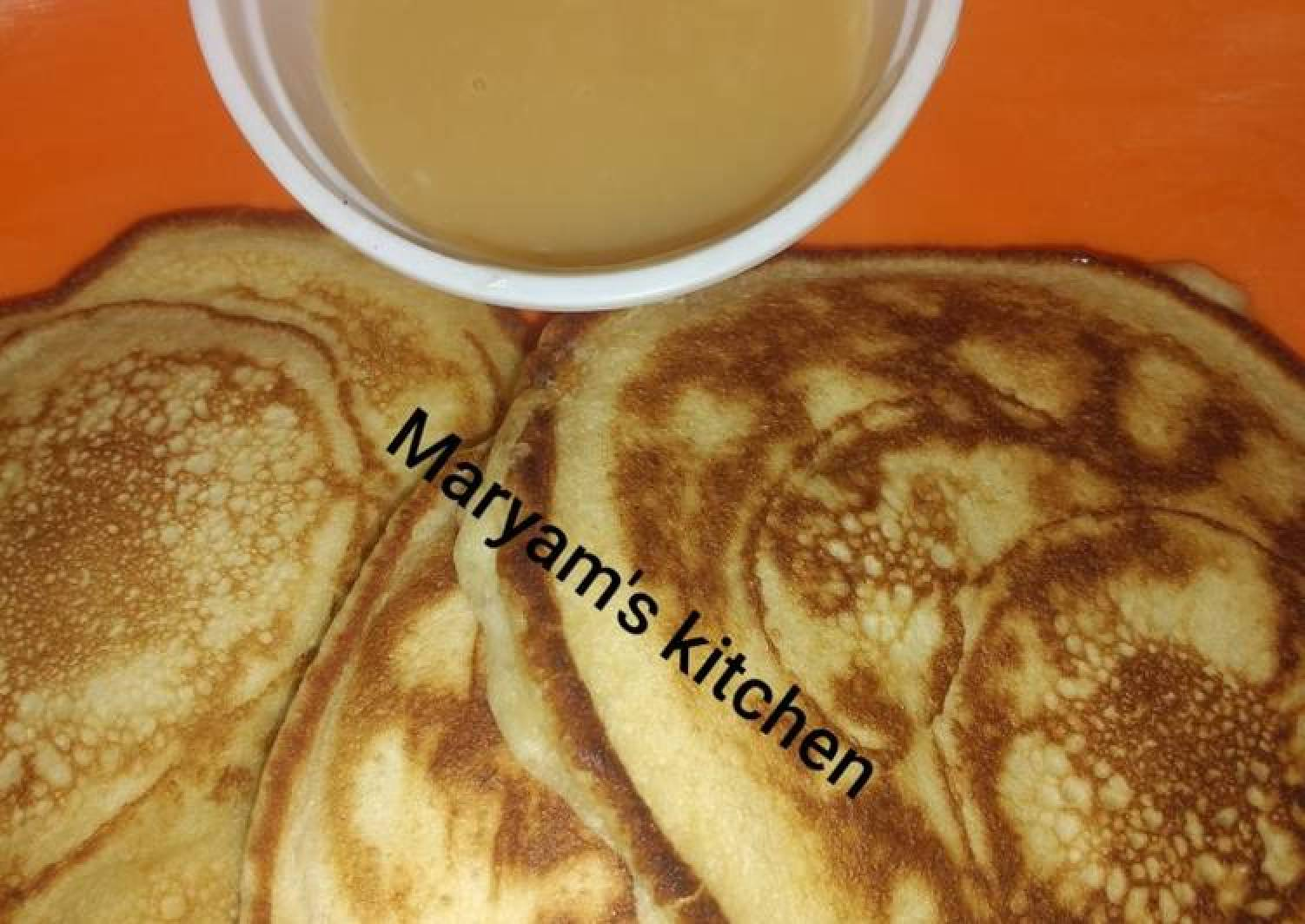 Pancakes and dulce de leche