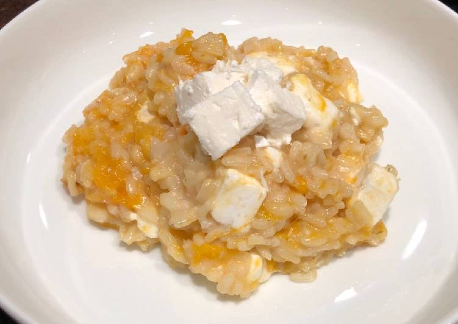 Simple squash and feta risotto