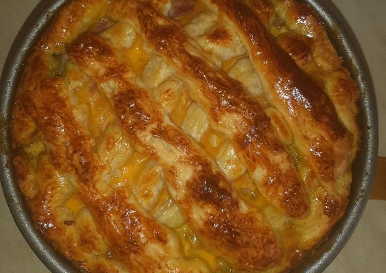 Mushroomy-Cheesy Pie