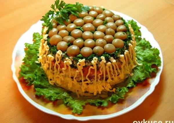 Салат «Грибная поляна» - пошаговый рецепт с фото. Автор ...