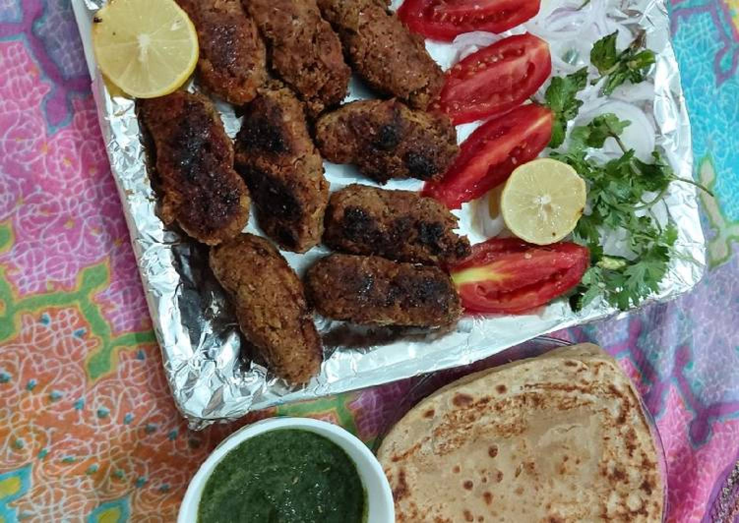 Mutton seekh kababs / smoking flavor/ mouth watering tasteful di