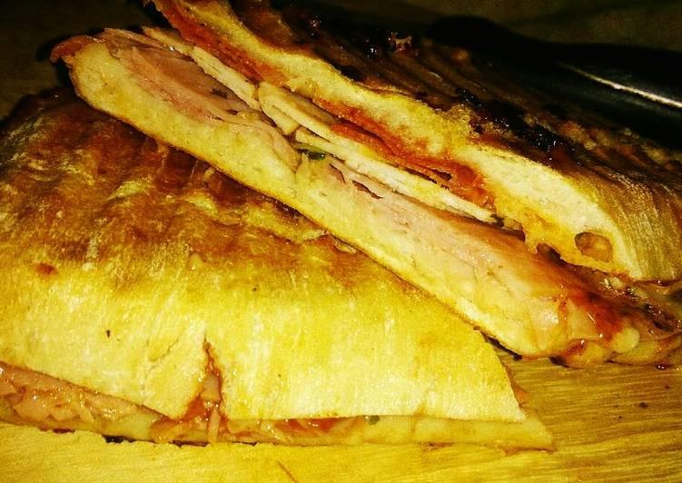 Tex's Ham, Turkey, Swiss, and Chorizo Panini 🐷🦃🧀🍞
