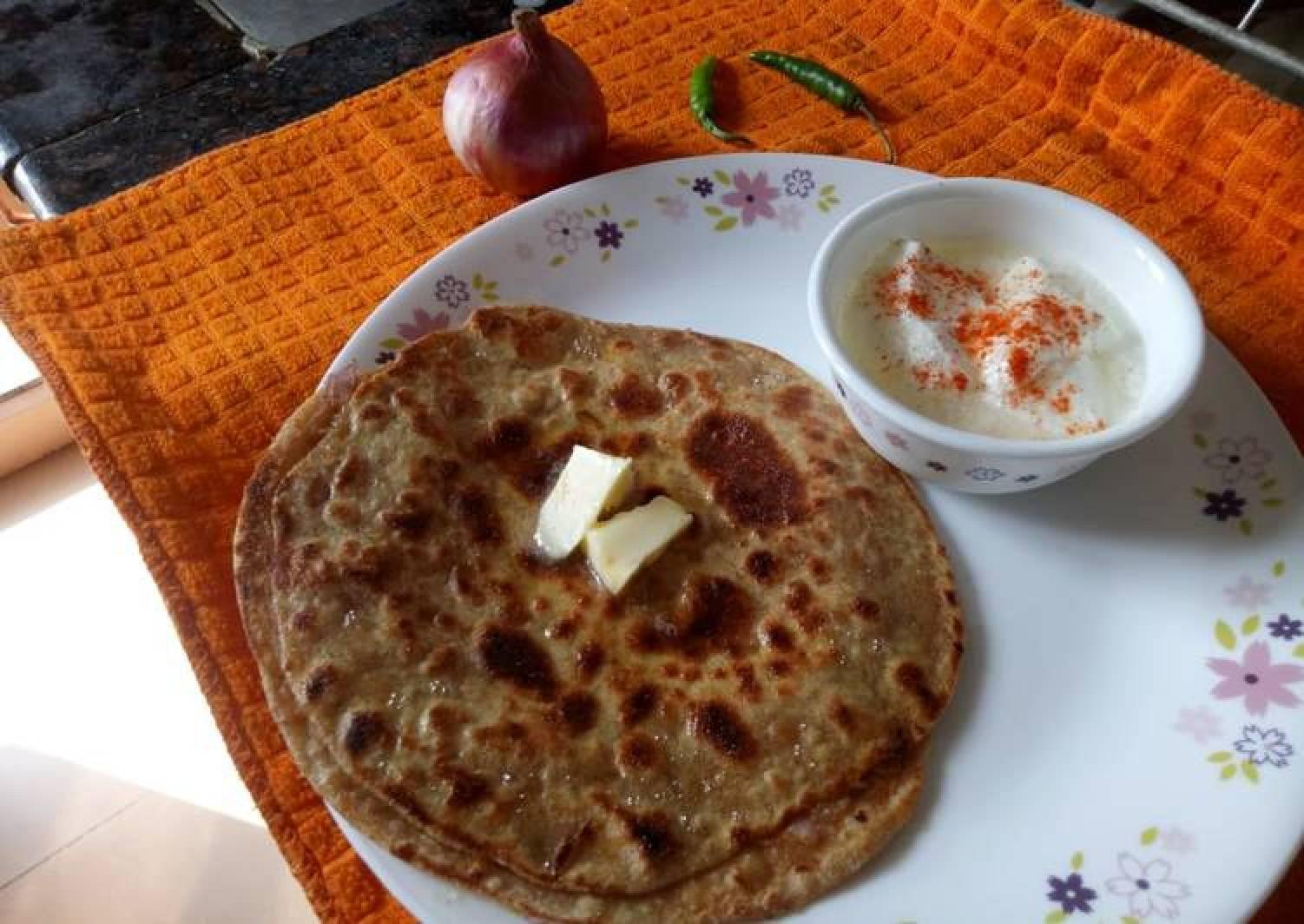 - Punjabi Onion Stuffed Paratha