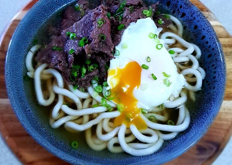 Beef Udon Noodles Soup